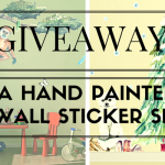 Win a beautiful hand painted wall sticker set for your child's bedroom