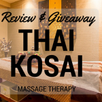 Thai Kosai Massage Therapy Review & Giveaway