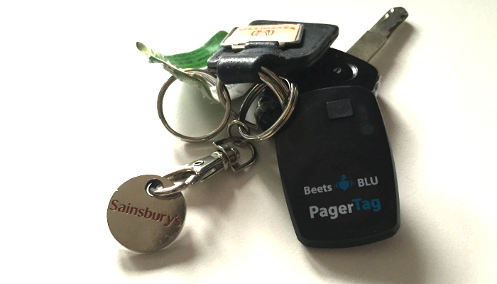 Beets_Blu_PaperTag_on_Car_Keys