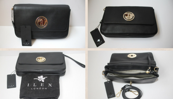 Ilex London - Black leather purse:clutch