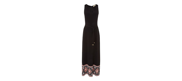 Michale Kors Sleeveless Printed Maxi Dress