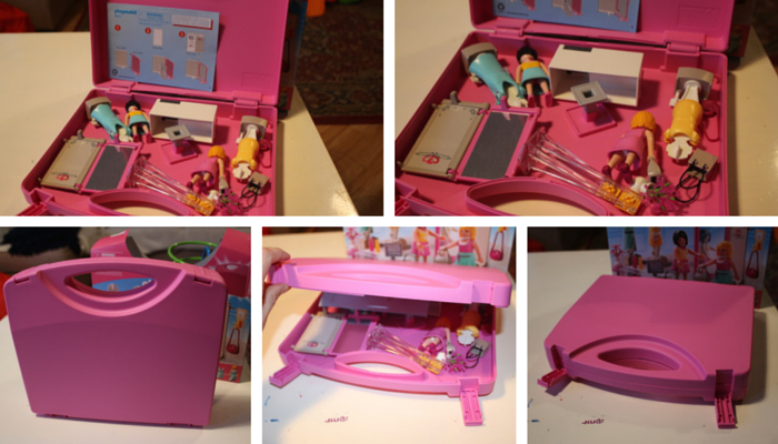 Playmobil Carrying Case Shop collage 4