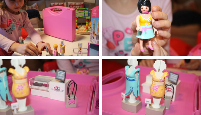 Playmobil Carrying Case Shop collage 5