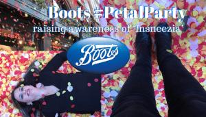 Boots #PetalParty Raising Awareness of 'Insneezia'