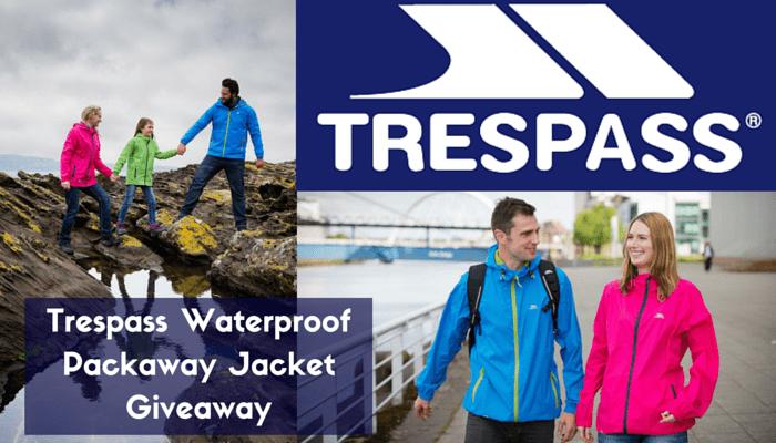 Trespass Waterproof Packaway Jacket Giveaway FI