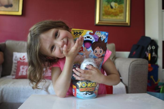 Bella showing Yo-Kai Watch