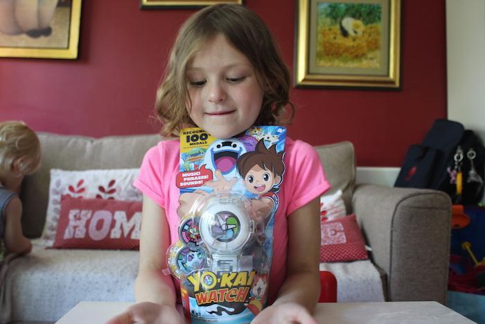 Bella showing Yo-Kai Watch 2