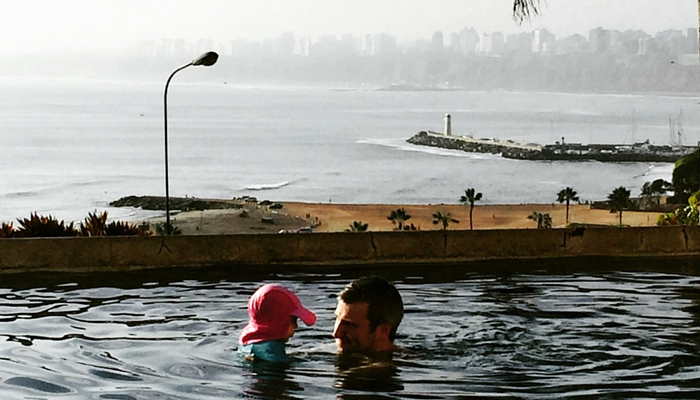 Swimming Pool On The Coast in Lima Peru