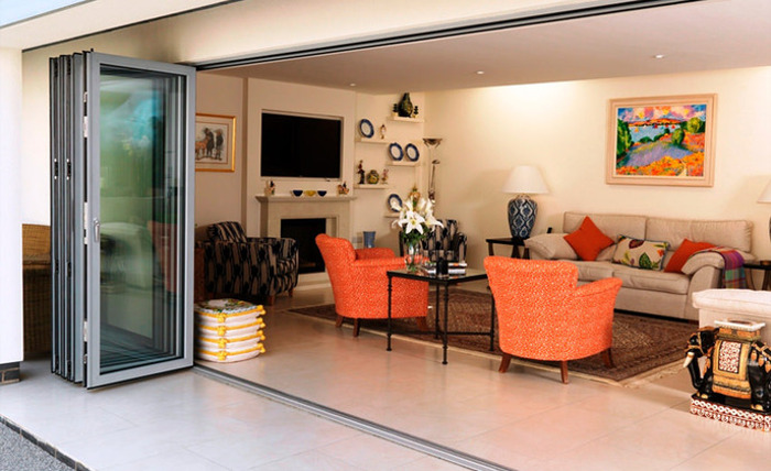 Aluminium Bifold Doors Fully Open