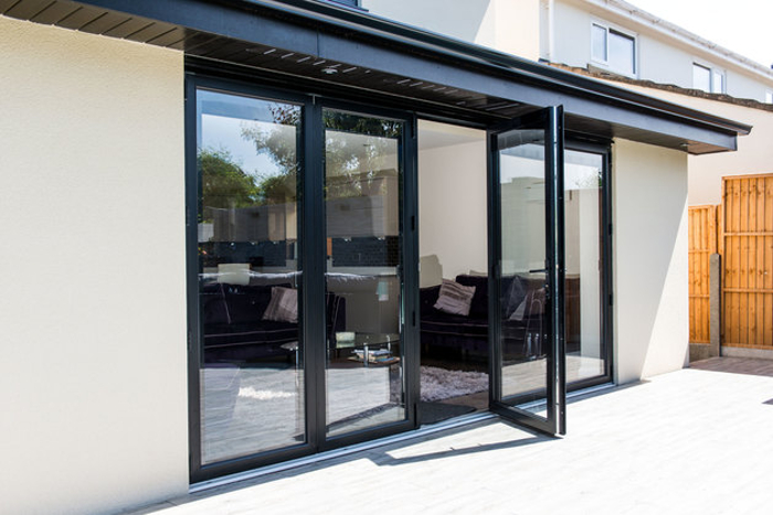 Aluminium Bifold Doors One Panel Open