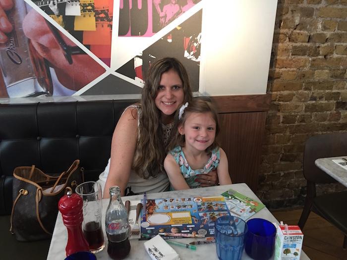 Bella and I at Pizza Express