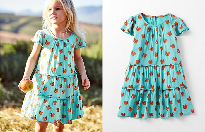 Boden Girls Frill Twirly Dress