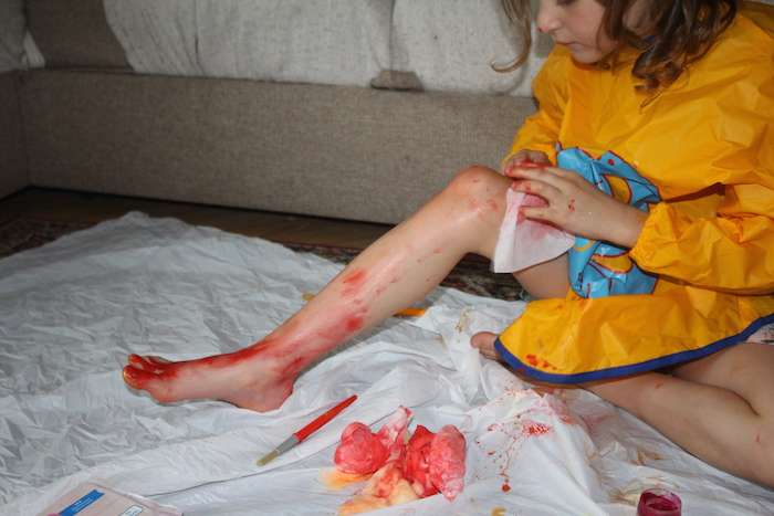 cleaning leg