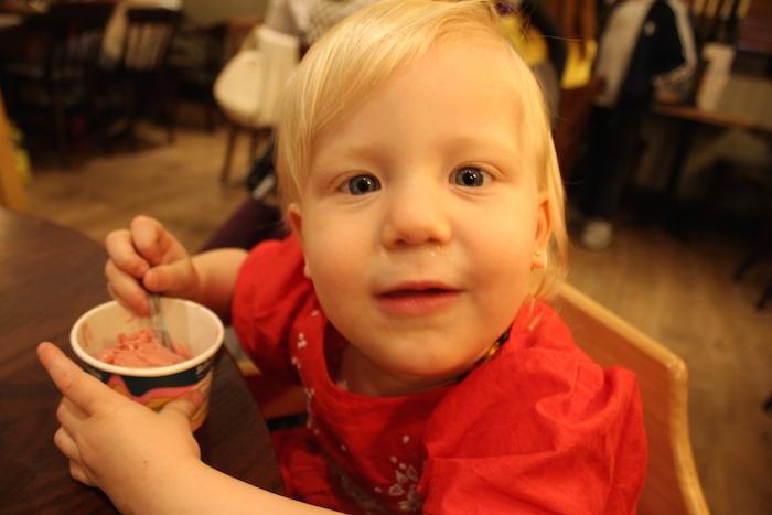 Sienna eating gelato