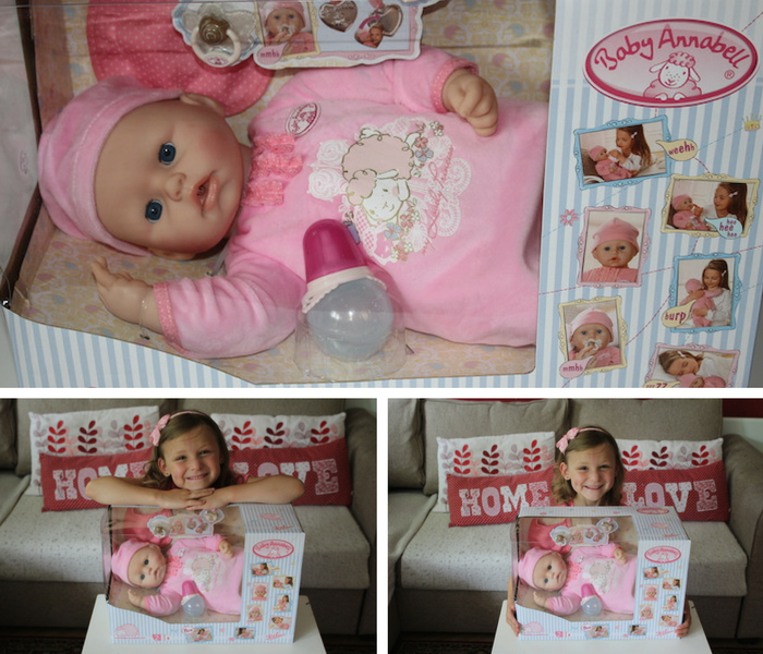 Baby Annabell box collage