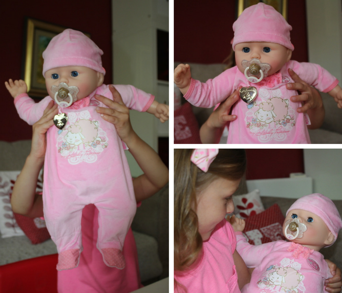 Bella playing with Baby Annabell collage 1