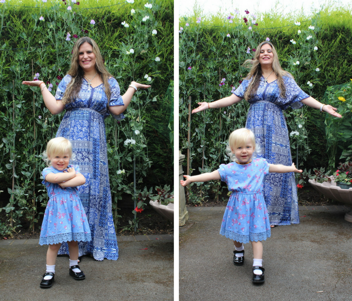 Mummy & Sienna Dress No 2 collage