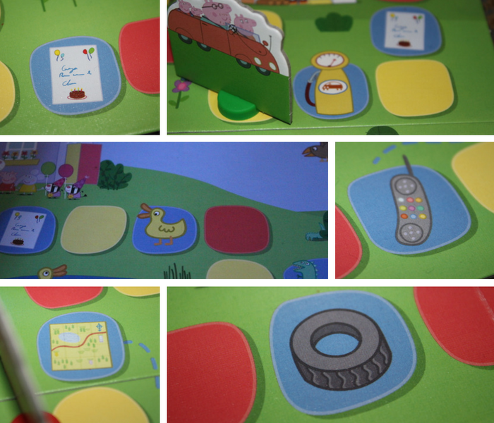 Peppa Party Time Race Games Hazards collage