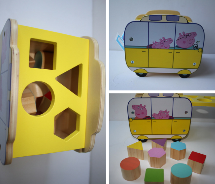Peppa Pig Campervan Shape Sorter collage 1