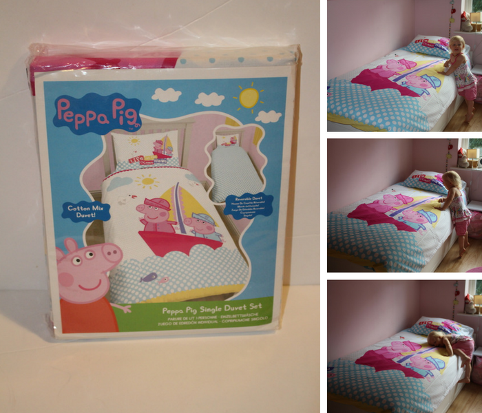 Peppa Single Nautical Duvet Set collage 1