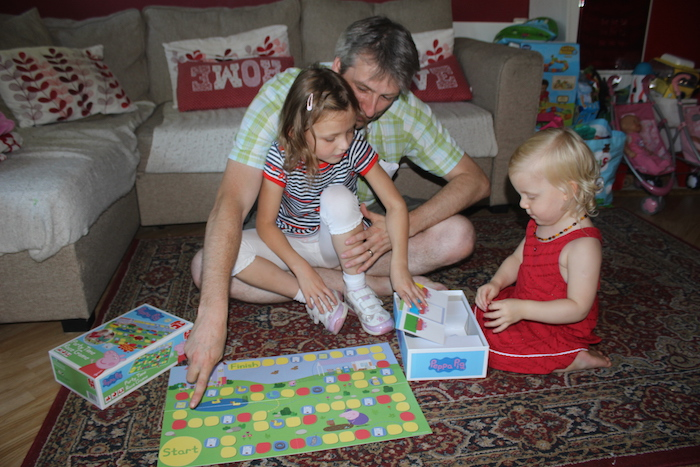 Playing the Peppa Pig board game