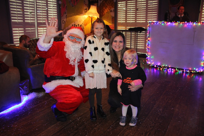 The girls and I with Santa