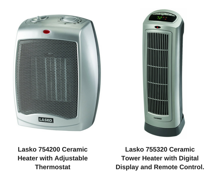 I Thought 2 Of The Heaters They Mentioned Could Be The Perfect Option For  Us: Lasko 754200 Ceramic Heater With Adjustable Thermostat And Lasko 755320  ...