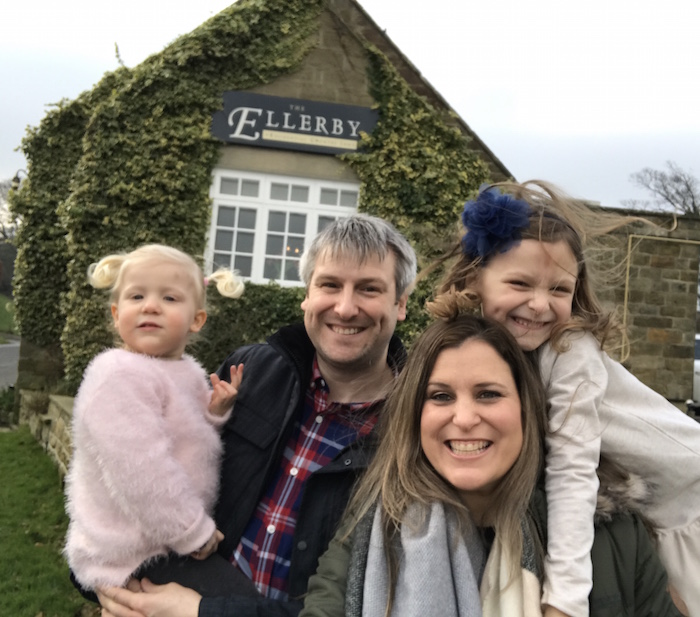 Happy family at The Ellerby