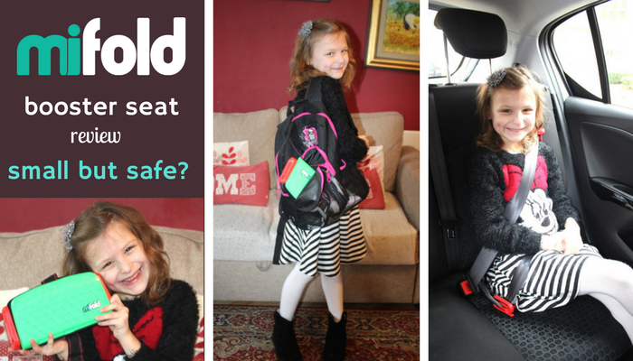 Mifold booster seat review - small but safe v2