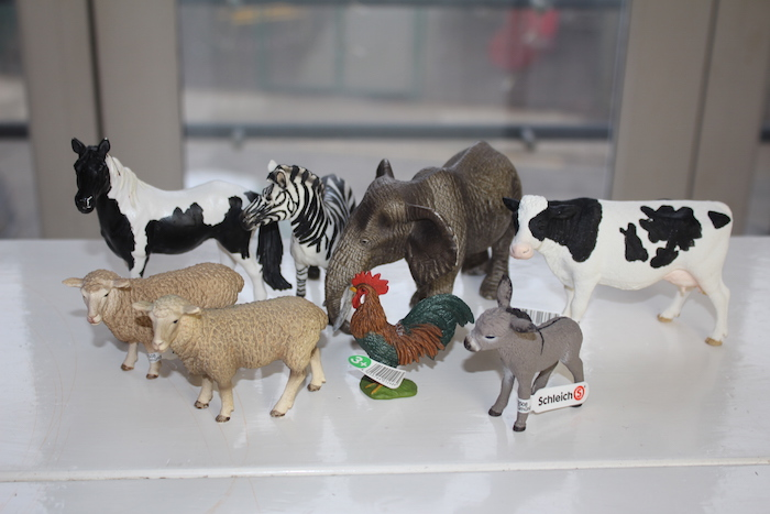 Schleich farm animal figurines