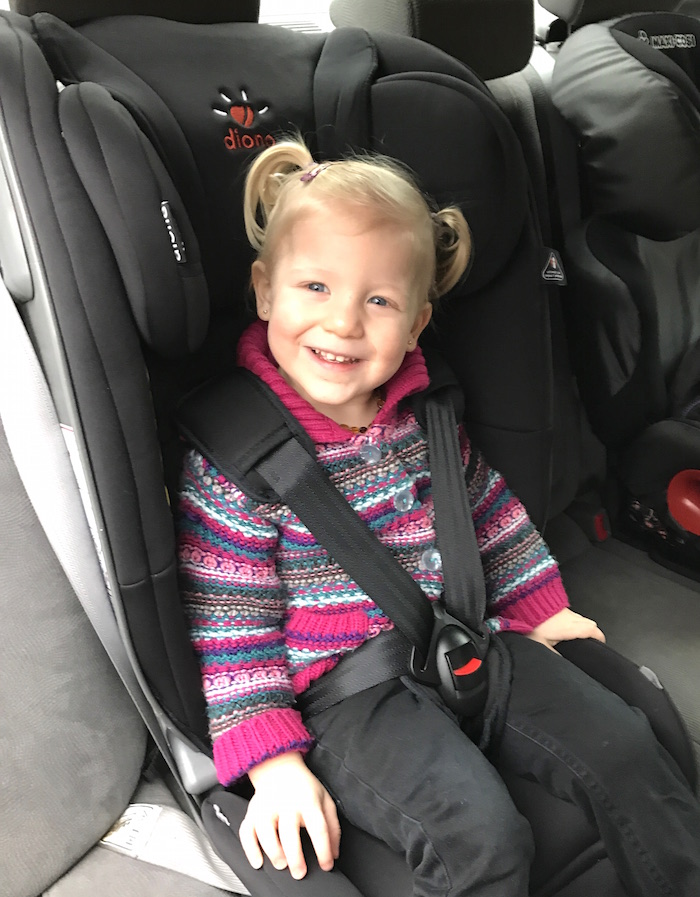 Sienna on Diono Radian 5 car seat