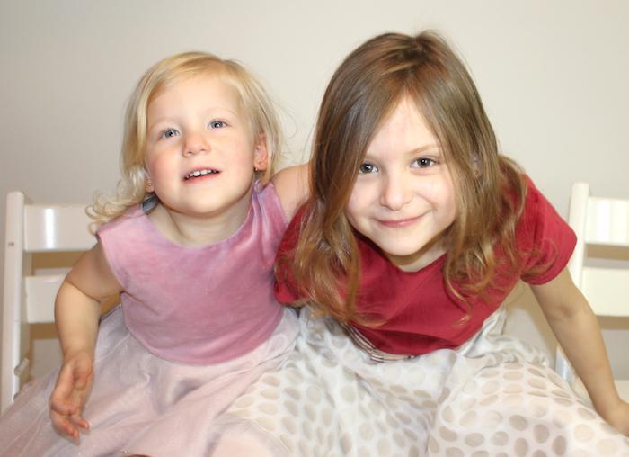 Bella & Sienna modelling MyTwirl 1