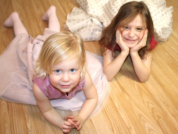 Bella & Sienna modelling MyTwirl 3