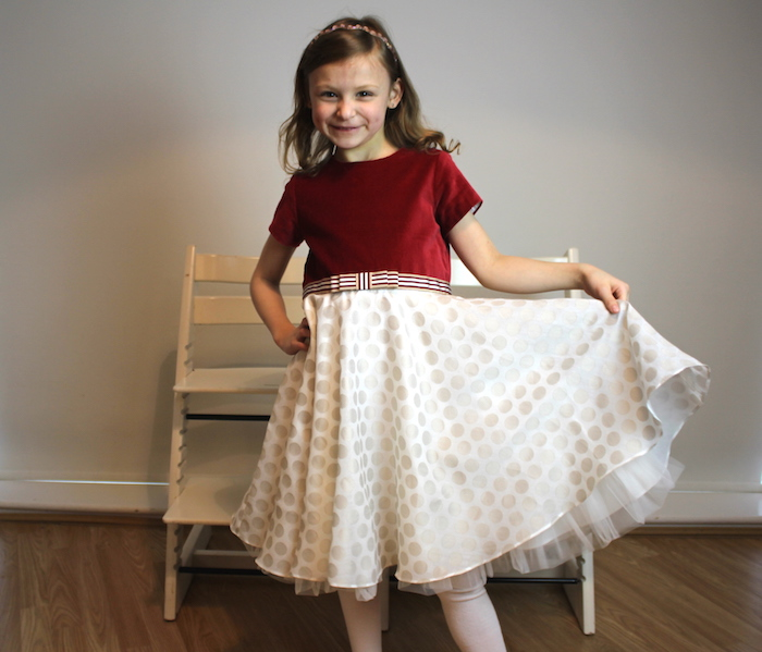 Bella modelling MyTwirl dress 1