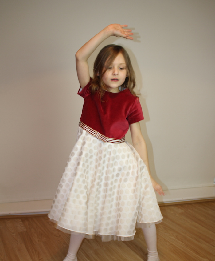Bella modelling MyTwirl dress 3