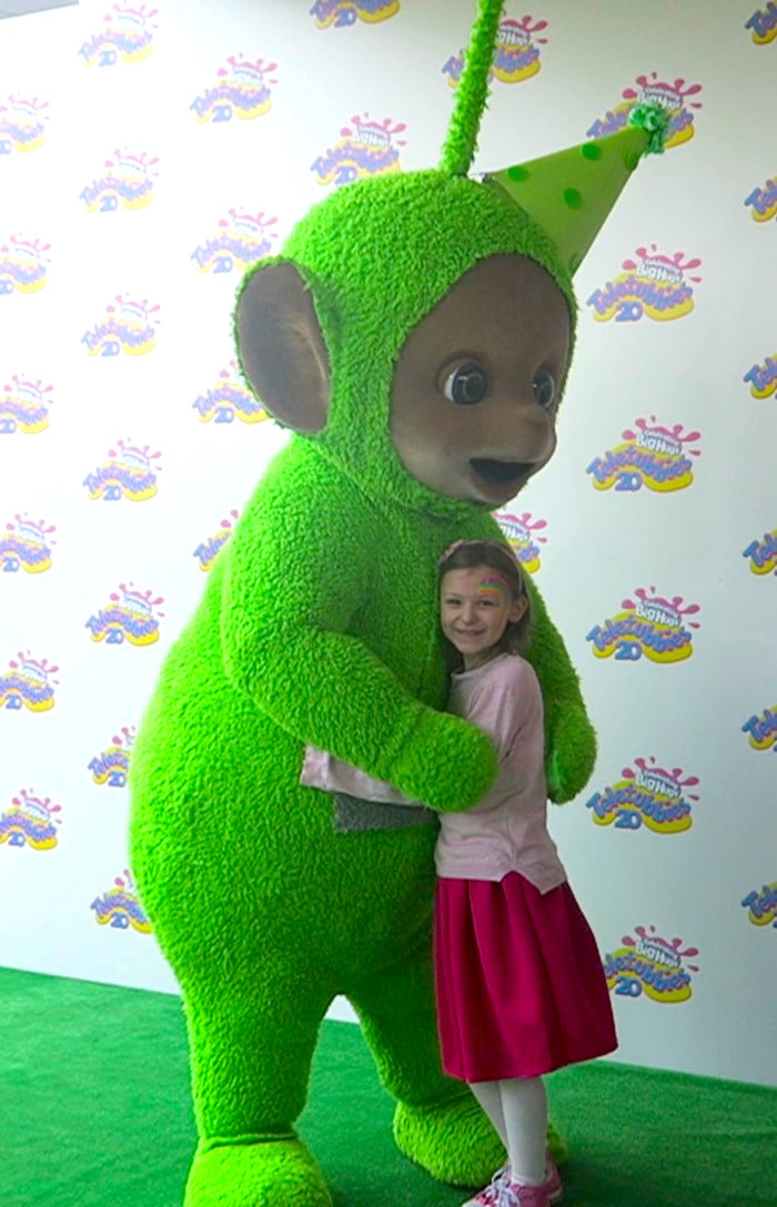 Bella with Dipsy