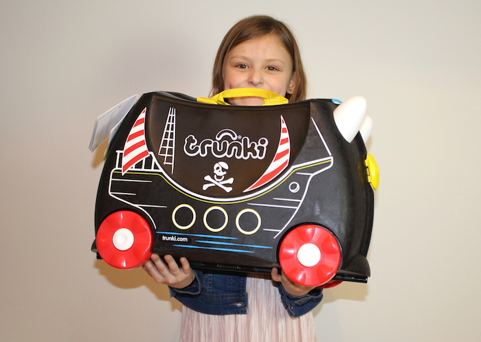 Bella with Pedro the Pirate Ship Trunki 1