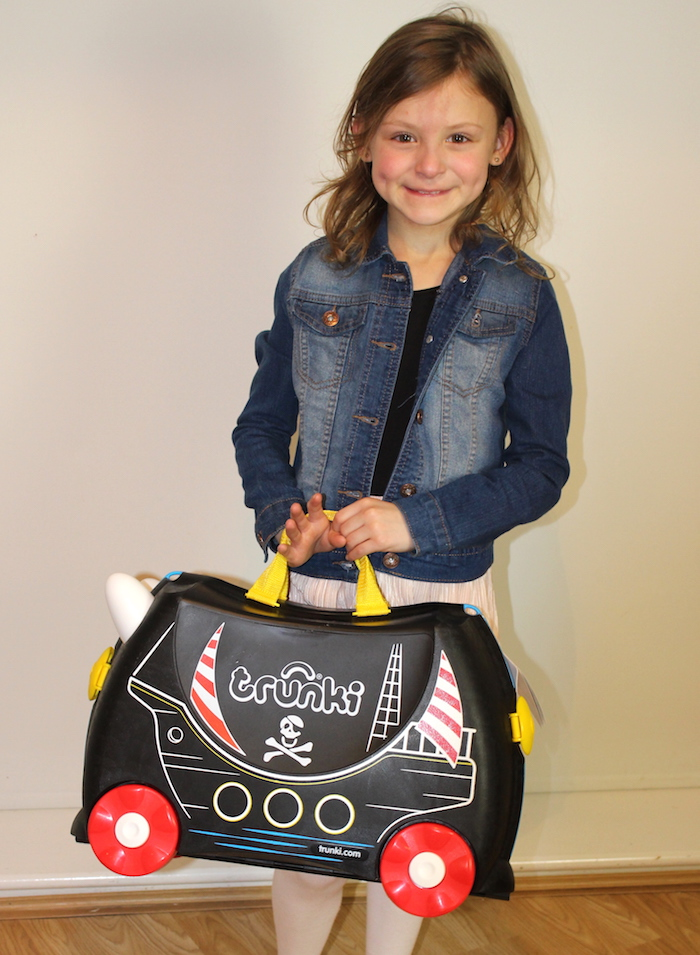 Bella with Pedro the Pirate Ship Trunki 2