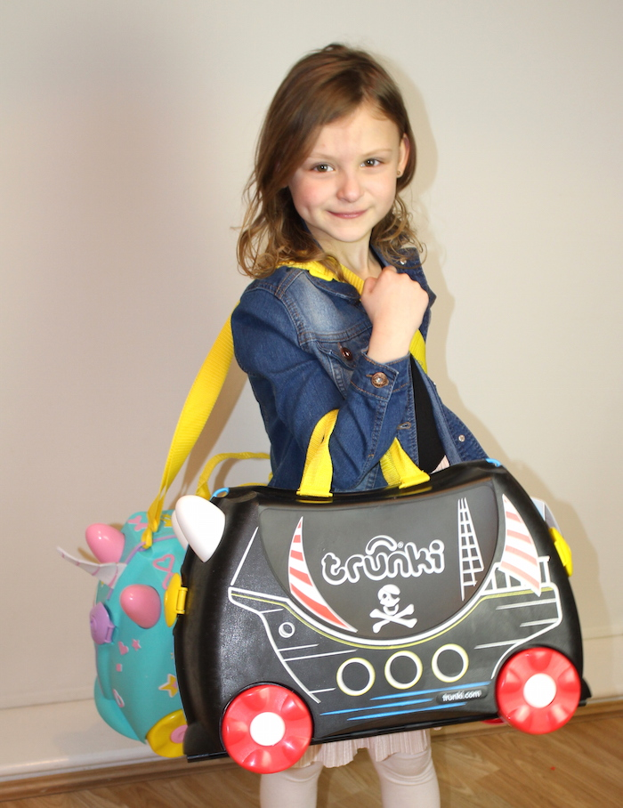 Bella with Pedro the Pirate Ship Trunki 3