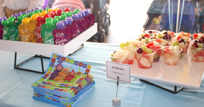 Food at Teletubbies Party