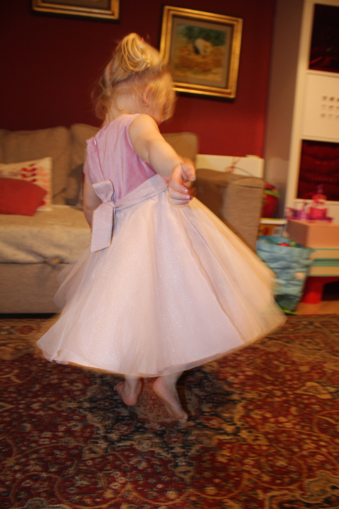 Sienna testing MyTwirl Isabelle dress