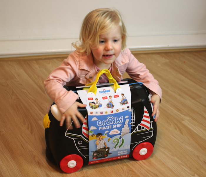 Sienna with Pedro the Pirate Ship Trunki 1