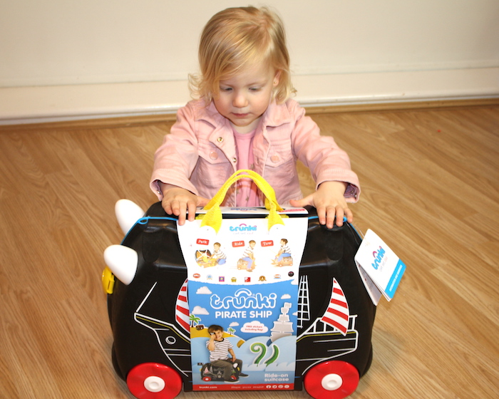 Sienna with Pedro the Pirate Ship Trunki 2