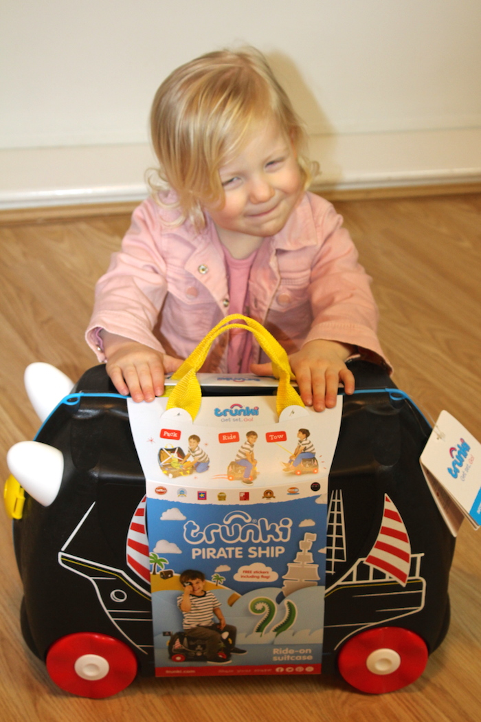 Sienna with Pedro the Pirate Ship Trunki 3