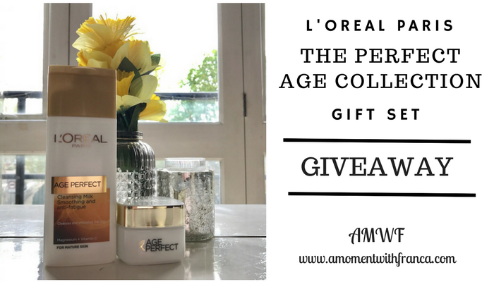L'Oreal Paris 'The Perfect Age Collection' Review & Giveaway • A Moment With Franca