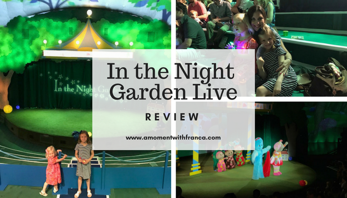In the night garden live review a moment with franca for Richmond home and garden show 2017
