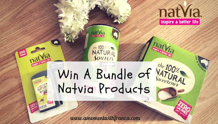 Natvia: The 100% Sweetener – Win A Natvia Product Bundle