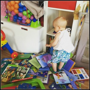 Wicked Wednesday #3 – Baby Sienna loves books!