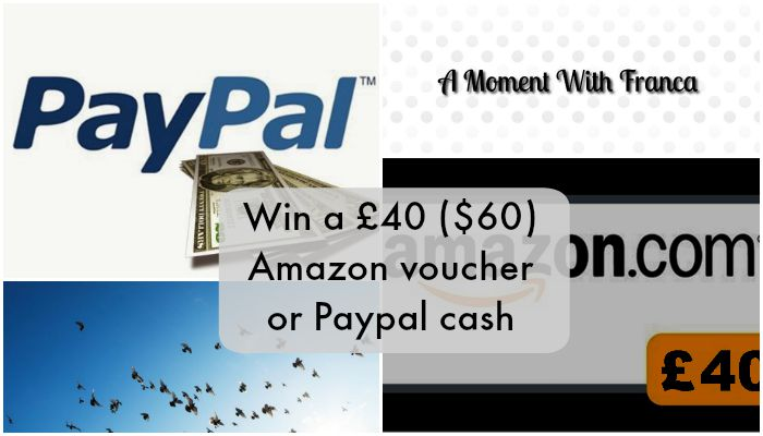 Win a £40 ($60) Amazon voucher or Paypal cash