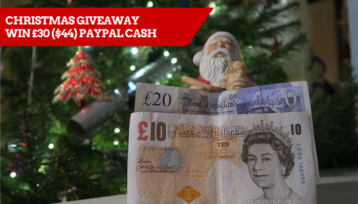 Christmas Giveaway – Win £30 ($44) PayPal cash